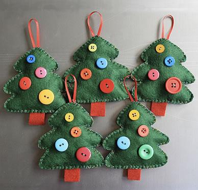 Lavoretti Di Natale In Pannolenci.Alberi Di Natale Di Feltro Lavoretti Di Natale