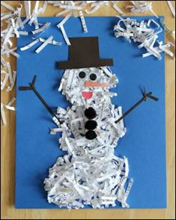 Lavoretti Biglietti Di Natale.Biglietto Di Natale Pupazzo Di Neve Biglietto Natale Pupazzo Di Neve