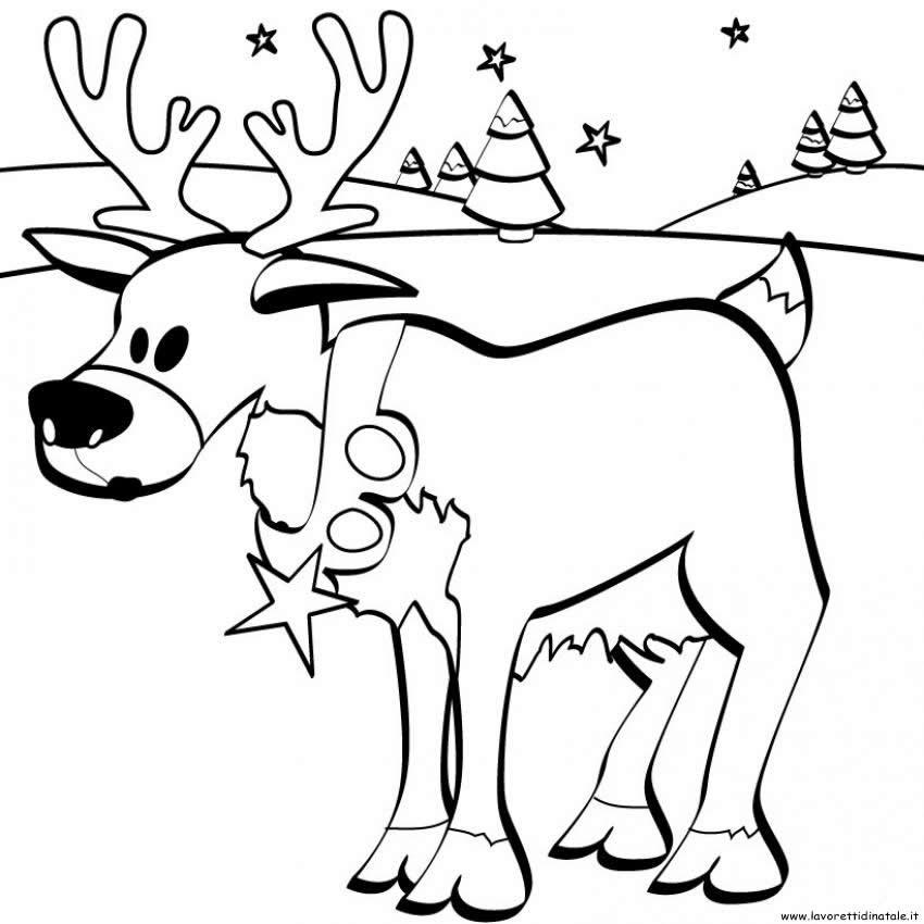 Disegni Di Natale Renne.Divertenti E Simpatici Disegni Di Natale Da Colorare