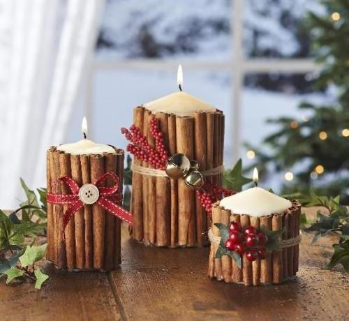 Centrotavola Natalizi Lavoretti.Lavoretti Di Natale Con Candele