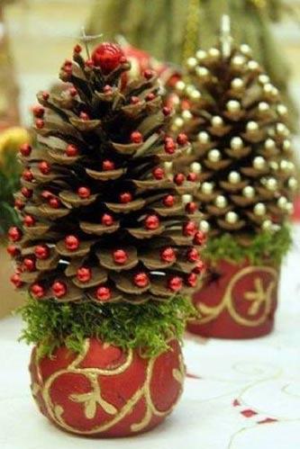 Lavoretti Di Natale Carini.Lavoretti Di Natale Pigne Di Natale Addobbate